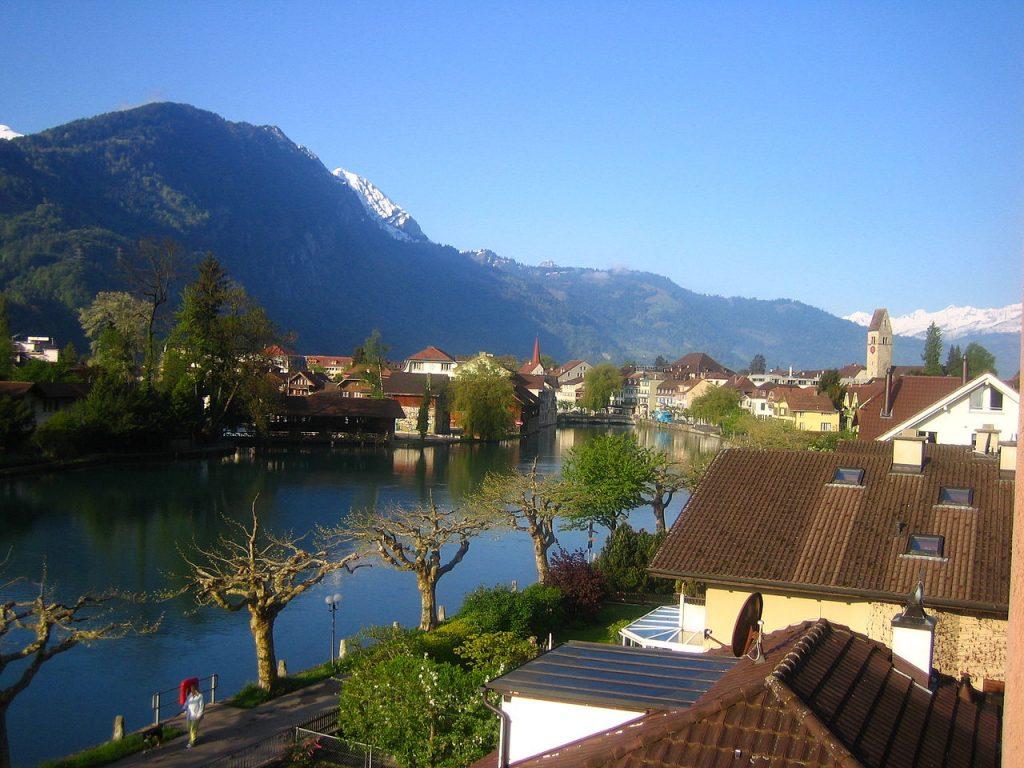 Interlaken Switzerland Digital Nomad Outdoor City